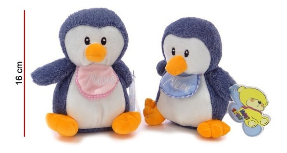 Pingüino De Peluche Sonajero Nene Nena Bebe
