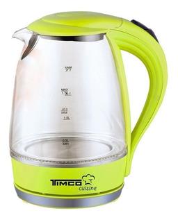 Tetera eléctrica Timco JE-V02 verde 1.7L