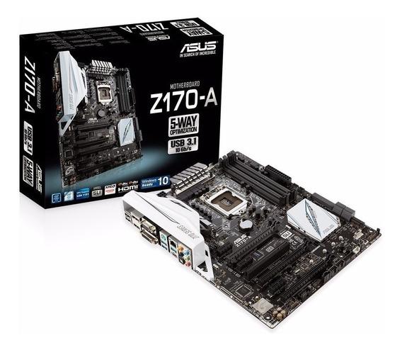 Placa Mae Asus Z170-a + Intel I5 6600k 1151