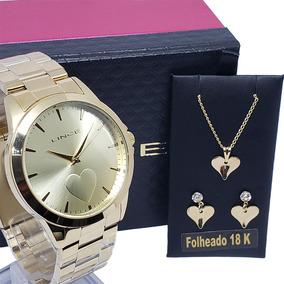 Relógio Brinco Feminino Lince Lrgj097l Kw15 Brinde Garantia