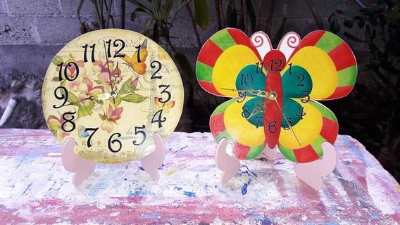 12 Reloj Centros De Mesas Infantiles 15años Y Bodas Mdf