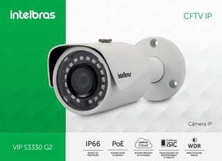 Camera Intelbras 3.6mm Vip S3330 - G2 - 30mts Camera Ip