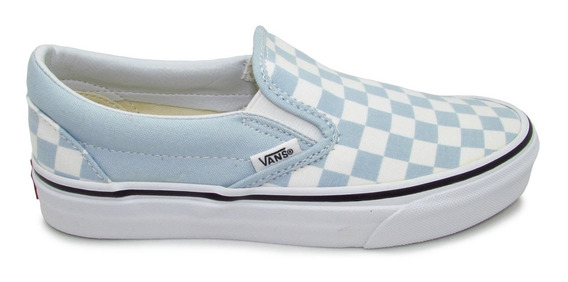 Tenis Vans Slip On Classic Vn0a38f7qck Checkerboard Blue