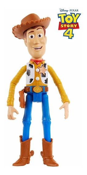Boneco Woody Toy Story 4 Fala Português 24 Cm Articulável