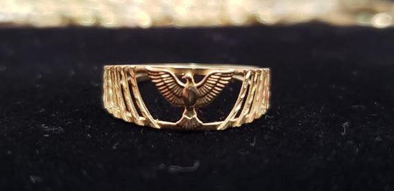 Anel Em Ouro 18k Pássaro