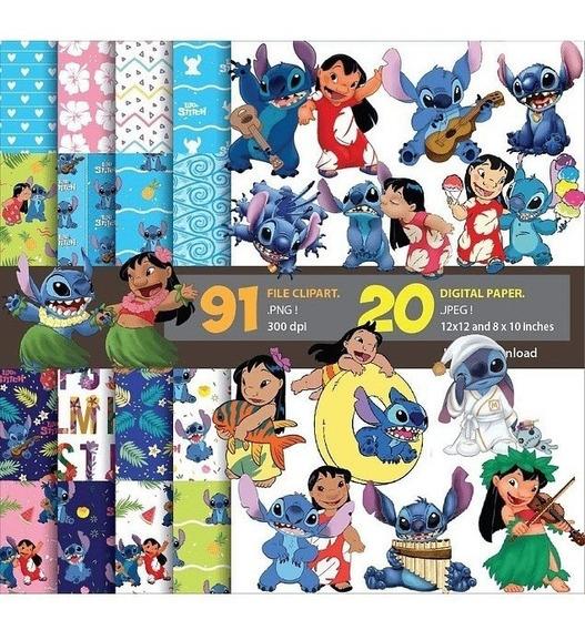 Kit Imprimible Lilo Y Stitch #1 Png Clipart Fondos *3x1*