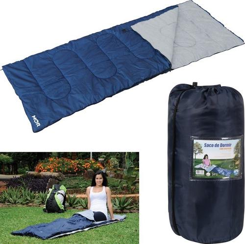 Imagem 1 de 3 de Saco De Dormir Com Ziper Acampamento Camping - Mor
