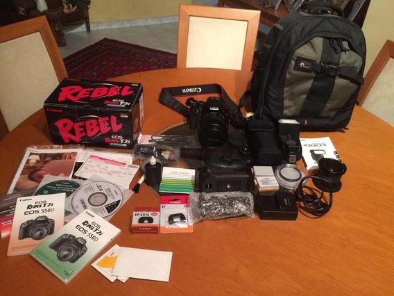 Camara Canon Eos Rebel T2i +accesorios