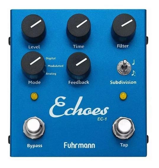 Pedal Echoes Tap Delay Fuhrmann Guitarra Violão Ec01