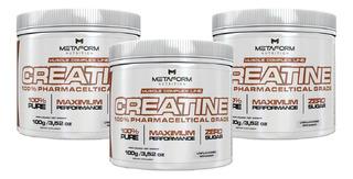 Combo Atacado 3x Creatine 100% 100g - Metaform Nutrition