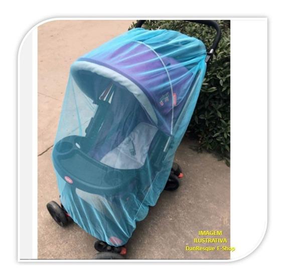 Mosquiteiro Azul Para Carrinho Crianças Sem Mosquito