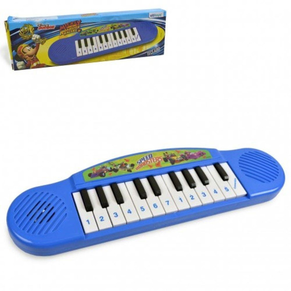 Teclado Piano Musical Infantil Mickey Mouse Brinquedo