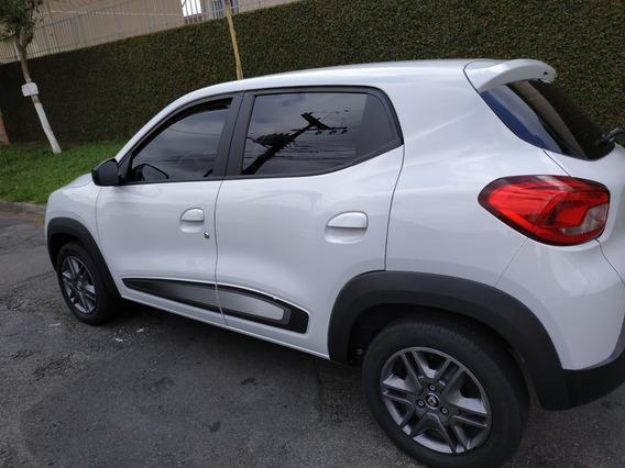 Renault Kwid Intense 18/19 Branco Completo Com Multímidia