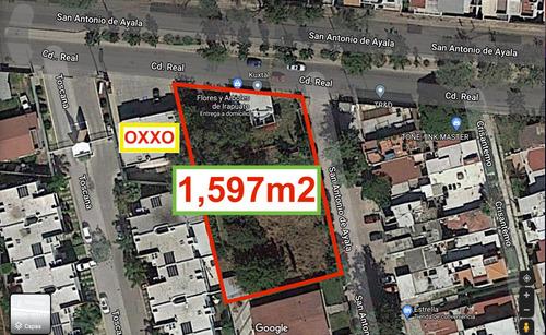 Imagen 1 de 6 de Terreno En Venta Comercial 1,597m2 San Antonio De Ayala