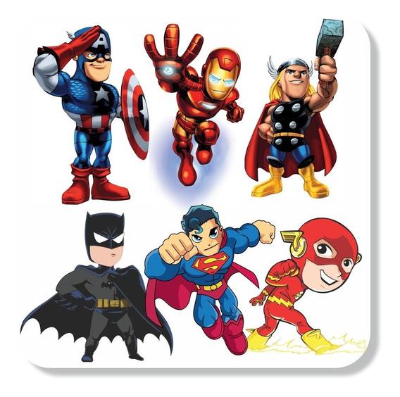 Adesivos Parede Super Heróis Liga Da Justiça Vingadores+nome