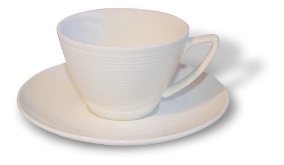 Tazas Set De Cafe Con Plato Porcelana Blanco Cafe