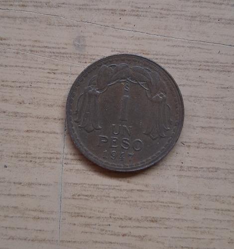 Moneda De Un Peso Año 1947