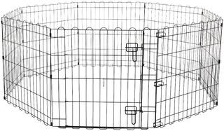 Amazonbasics Corral De 61 Cm Con Puerta Para Mascota