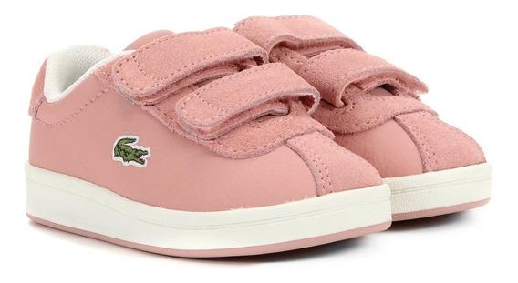 Tênis Lacoste Femino Rosa Com Velcro
