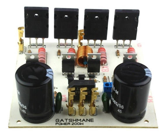 Placa Montada Amplificador 200w Mono Com Fonte