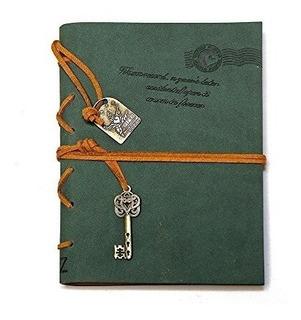 Cuaderno De Diario De Cuero, Evz Clásico Con Enlace Antiguo