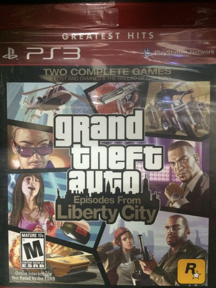 Gta Episodes From Liberty City Para Ps3 Novo Lacrado