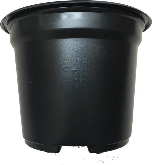 Maceta 5 Pulgadas Flexible Negra Soplada Termoformada 100 Se