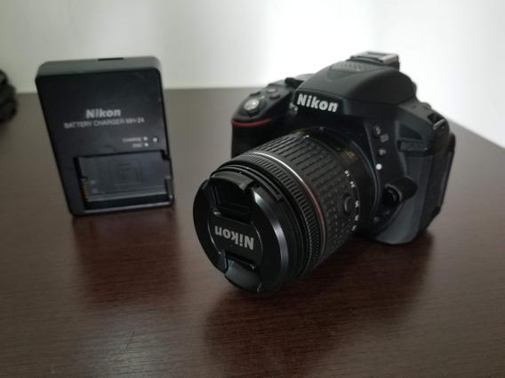 Câmera Nikon D5300 C/ Lente 18-55mm - Impecável
