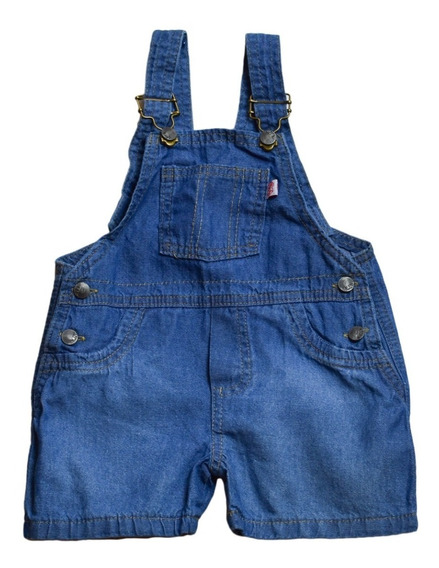 Jardinero Corto De Jeans Bebes