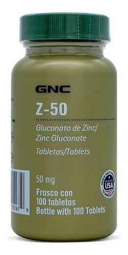 Imagen 1 de 2 de Gnc Zinc 50 Mg