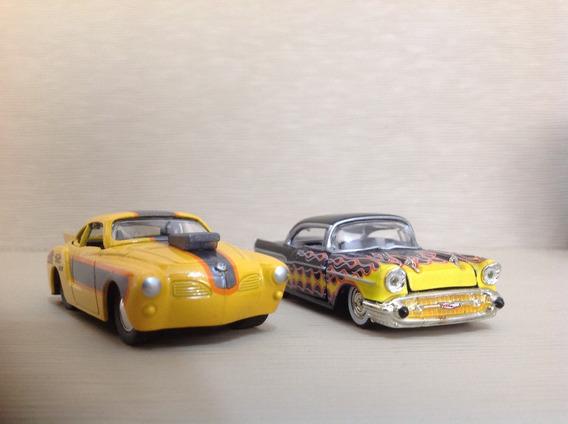 Lote 42 Com 02 Miniaturas - Bel Air(m2) E Karmann Guia(jada)