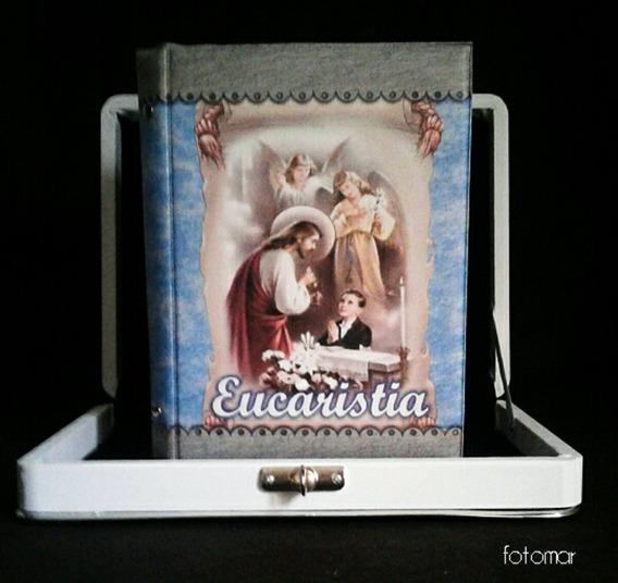 Álbum Primeira Eucaristia Menino 80 Fotos C/ Estojo