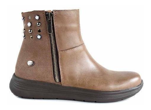 Bota Mujer Cuero Cavatini Botineta Zapato Botita - Mcbo24902