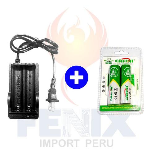 Cargador Doble Miyako + 2 Baterías Recargables Cafini