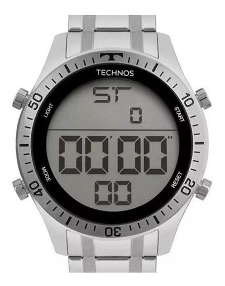 Relógio Technos Racer Masculino Prata Digital T0 2139ac/1c   Original C/ Nota Fiscal   Garantia 12 Meses Mega Promoção