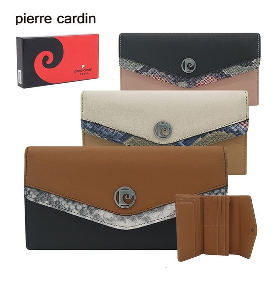 Billetera Mujer Pierre Cardin Cuero Pu 100% Original Fichero