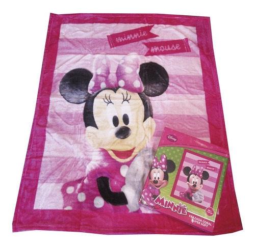 Imagen 1 de 5 de Frazada Super Soft Minnie Mouse Disney 90x110