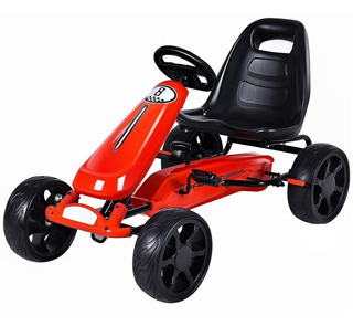 Costzon Red Go Kart Pedal Cars Carro Pedales Montable Niños