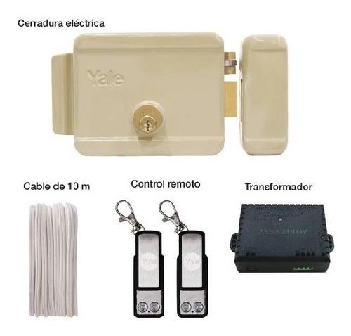 Kit Cerradura Eléctrica Derecha Con Control Remoto