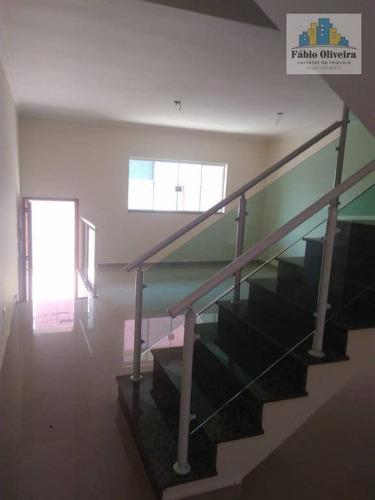 Sobrado Com 3 Dormitórios À Venda, 137 M² Por R$ 550.000 - Silveira - Santo André/sp - So0442
