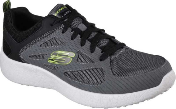 Tenis Skechers Burst Box Out Gris/lima Hombre