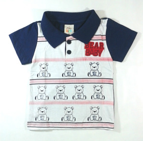 Polo Bebê Infantil Manga Curta Roupa Menino Alekids