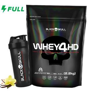 Whey 4hd 2,2kg Isolado Concentrado Hidrolisado Black Skull