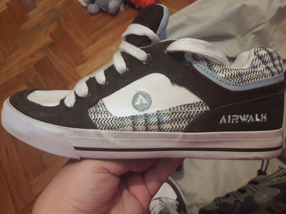 Zapatillas Airwalk Mujer Marron /blanco /celeste Talle 8 1/2