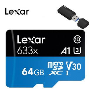Original Lexar 64 Gb Cartão Micro Sd Cartão De Memoria Class