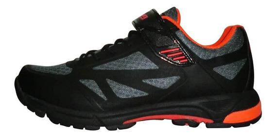 Zapato Elite Montaña Tb22-b1406 Negro/gris/naranja