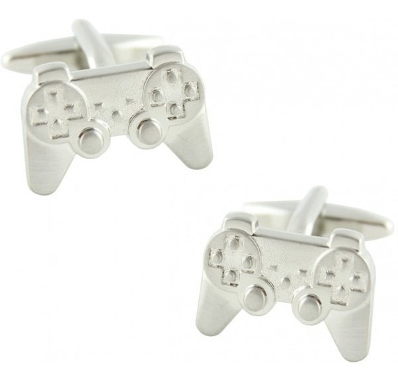 Abotoadura Controle Playstation Chrome Premium (83) Geek Ps