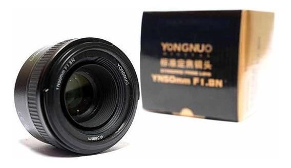 Lente Objetiva Yn 50mm F1.8 N Af Mf Yongnuo Nikon - Promoção