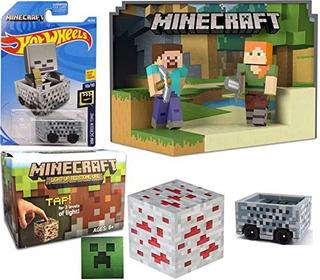 Juguete Steve Alex Minecraft Die-cast Hot Wheels Minecart 20