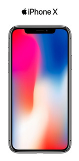 iPhone X 256 Gb Prata Box Pouco Uso + Capa Silicone Lacrada